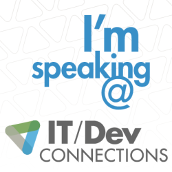 I'm speaking at DevConnections 2015!